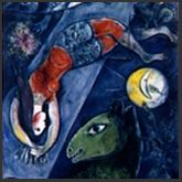 FRENCH 'Chagall-Blue-Circus'